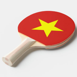 Ping pong paddle with Flag of Vietnam
