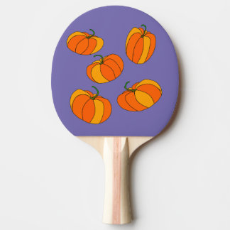 Ping Pong Paddle with Pumpkins