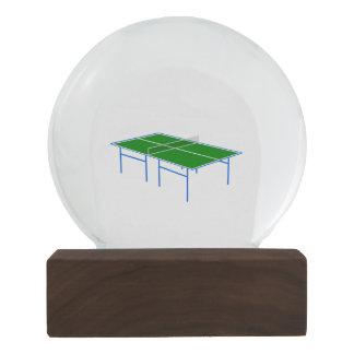 Ping Pong Table Tennis Table Sports Snow Globe