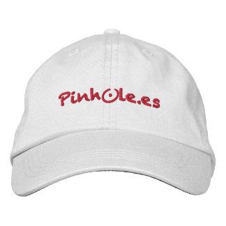 Pinhole red gorras de beisbol bordadas