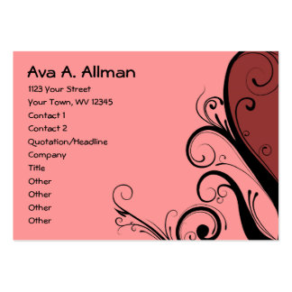 Pink Abstract Floral Business Cards
