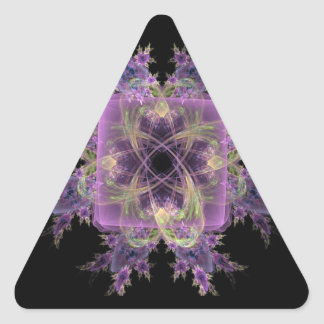 Pink Abstract Fowers Triangle Sticker