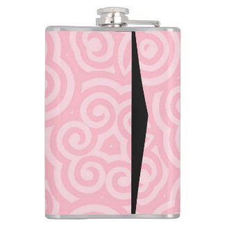 Pink Abstract Pattern Hip Flask