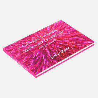 Pink Abstract Retirement Party Memory/Guest Book