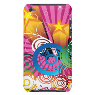 pink abstract retro funky art Case-Mate iPod touch case