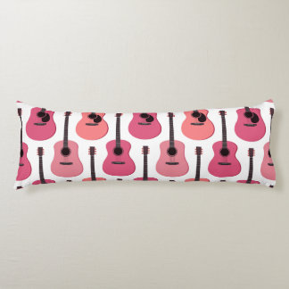 Pink Acoustic Guitars Pattern Body Cushion