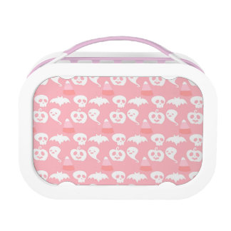 Pink Adorable Halloween Pattern Lunch Box
