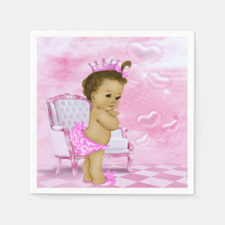 Pink African American Baby Shower Disposable Napkin