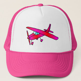 Pink airplane aircraft plane cap caps