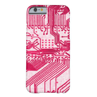 Pink Alien Grunge Circuit Chip Pattern Barely There iPhone 6 Case