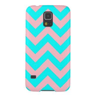 Pink and Aqua Chevron Samsung Galaxy S5 Case