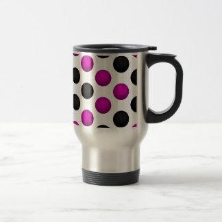 Pink and Black Basketball Pattern Coffee Mug