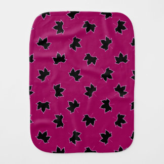 Pink and black Burp Cloth