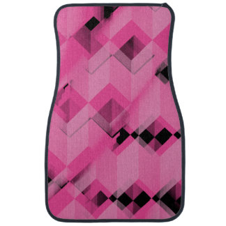 Pink and Black Geometric Car Mats Floor Mat