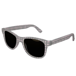 Pink and Black Modern Plaid Netted Ombra Sunglasses