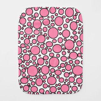 Pink and Black Polka Dots Burp Cloth