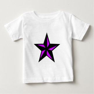 Pink and Black Star Baby T-Shirt