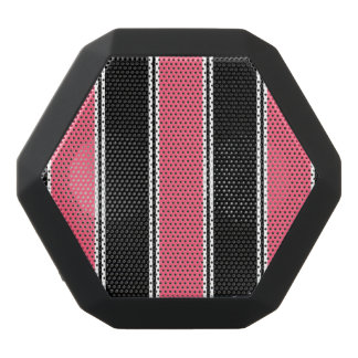 Pink and Black-Striped Bluetooth Speaker