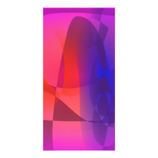 Pink and Blue Abstract World Photo Card Template