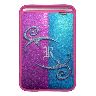 Pink and Blue Glitter & Swirls MacBook Sleeve