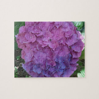 Pink and Blue Hydrangea Puzzle