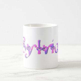 Pink And Blue Sylvia Name Coffee Mug