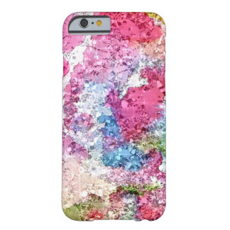 Pink And Blue Watercolor Custom Barely There iPhone 6 Case