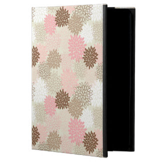 Pink And Brown Mum Pattern iPad Air Cover