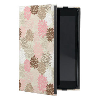 Pink And Brown Mum Pattern Covers For iPad Mini