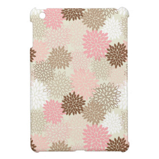 Pink And Brown Mum Pattern iPad Mini Cover