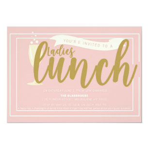 ladies lunch invitations announcements zazzle nz