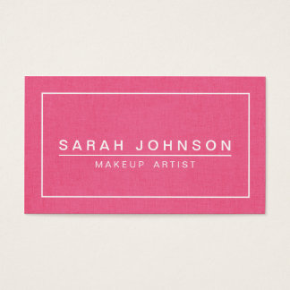 PINK AND GRAY LINEN MODERN BUSINESS CARD