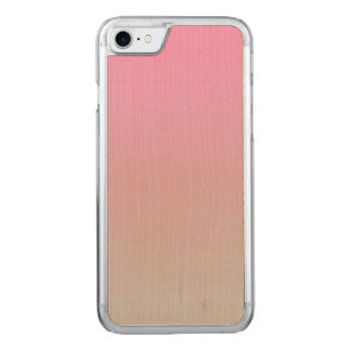 Pink And Gray Maple Wood Carved iPhone 7 Case