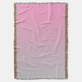 Pink And Gray Throw Blanket