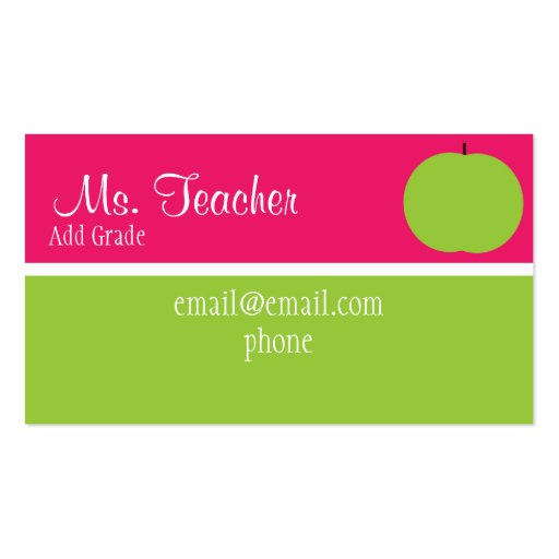 Apple Business Card Template
