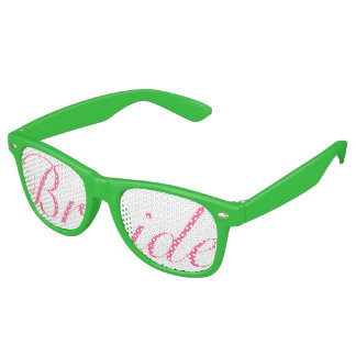Pink and Green BRIDE Swag Party Glasses