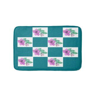 Pink and Green Floral small bath mat Bath Mats