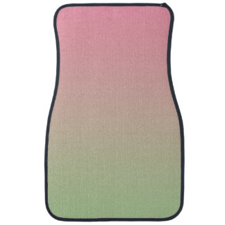 """""""Pink And Green Ombre"""" Car Mat"""