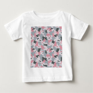 Pink and Grey Camouflage Baby T-Shirt