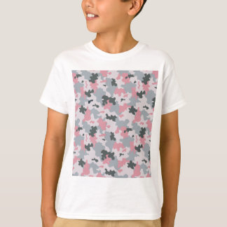 Pink and Grey Camouflage T-Shirt