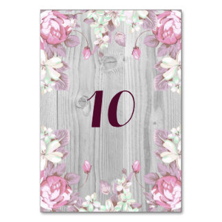 Pink and Grey Flowers Card