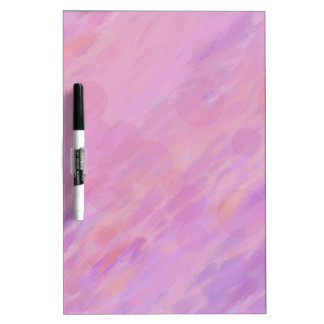 Pink and lilac abstract dry erase board
