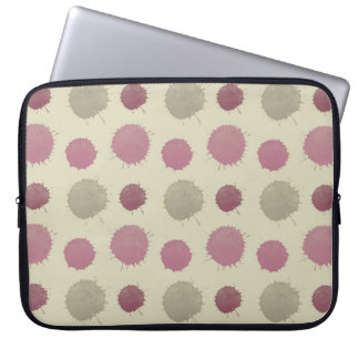 Pink and Mint Painted Abstract Laptop Sleeve