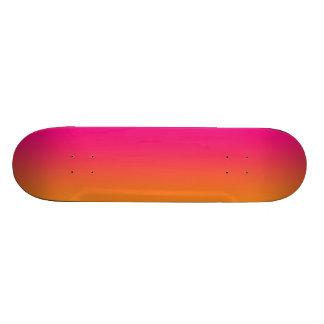 Pink And Orange 21.6 Cm Old School Skateboard Deck