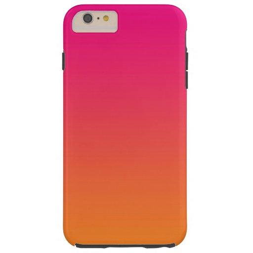 Pink And Orange Tough iPhone 6 Plus Case