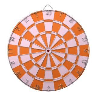 Pink And Orange Dartboard With Darts