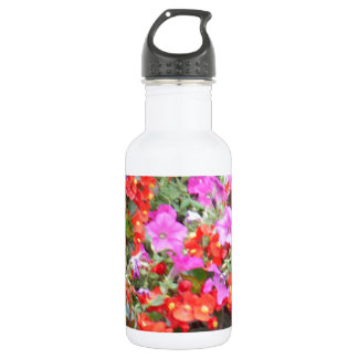 Pink and Orange flowers 532 Ml Water Bottle