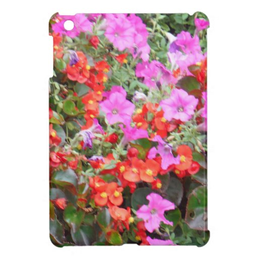 Pink and Orange flowers Case For The iPad Mini