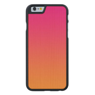 Pink And Orange Maple Wood Carved Maple iPhone 6 Case