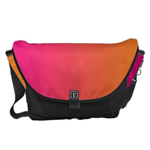 Pink And Orange Messenger Bag